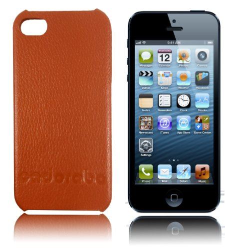 Cadorabo ! Iphone 5 / 5G / 5S Leder Hard Case braun