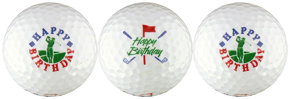 Happy Birthday w/ Golfer & Clubs Golf Ball Gift Set by EnjoyLife Inc