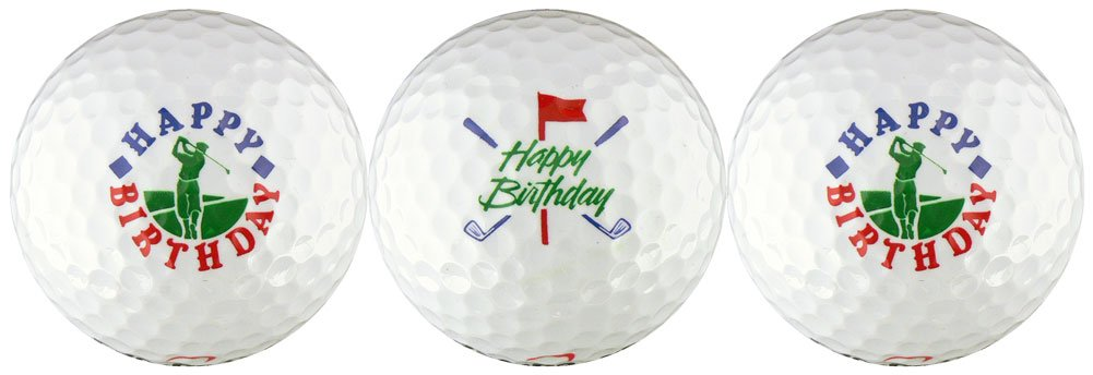 Happy Birthday w/ Golfer & Clubs Golf Ball Gift Set by EnjoyLife Inc (Image #1)