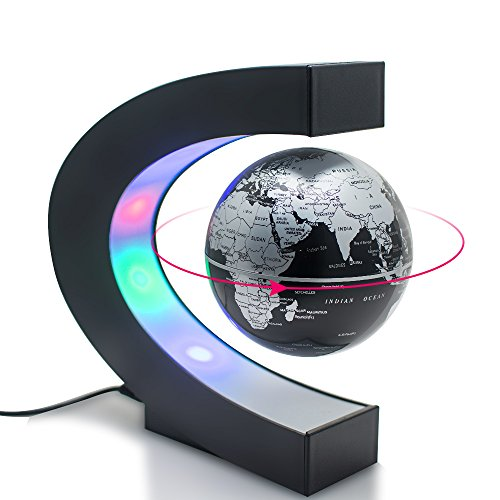 Carejoy C shape Decoration Magnetic Levitation Floating Globe World ()