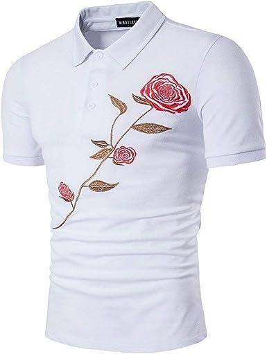 Camisa De Manga Corta Camisas Camisa Fit Jersey Slim De Camisa De Polo Camisa De Polo Camisa De Hombre Camisa Americana Y Estilo Americano: Amazon.es: Ropa y accesorios