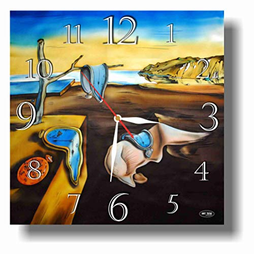 dudkaair FBA Salvador Dalí - The Persistence of Memory 11.4'' Handmade Wall Clock - Get unique décor for home or office – Best gift ideas for kids, friends, parents and your soul mates