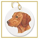 Ornament decorated with a Vizsla Dog