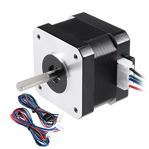 uxcell Stepper Motor Nema 17 Bipolar 23mm 0.22NM 1.3A 3.8V 4 Lead Cables for 3D Printer CNC Router Laser Lathe Machine Stage Light Control
