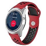 Alonea ZTE Quartz Watch Band, Replacement Soft Silicagel WatchBand Strap For ZTE Quartz Smartwatch (H)