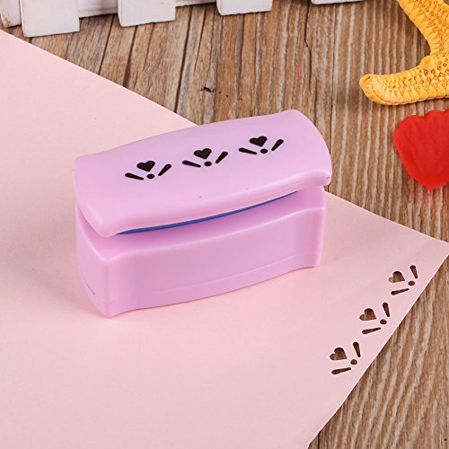 Kicode DIY Paper Printing Card Punch Cutter Scrapbook Shaper Embossing Device Hole Handmade Craft (Heart With Leaves)