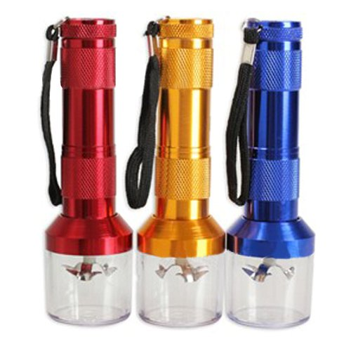 Baost 1Pc Aluminum Alloy Electric Leaf Herbal Tobacco Grinder Mill Battery  Operated Smoke Salt Pepper Spices Crusher Muller Electric Metal Grinder