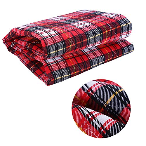 Kireina Adult Cloth Nappy,3Colors Adult Reusable Nappies Washable Thickening Elder Cloth Nappy Diaper 80 90cm (Red Plaid) from Kireina