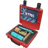 STR8 Brand - Smoking Roll Kit V3, Watertight, Smell Proof, Lockable, Travel Case (Red)