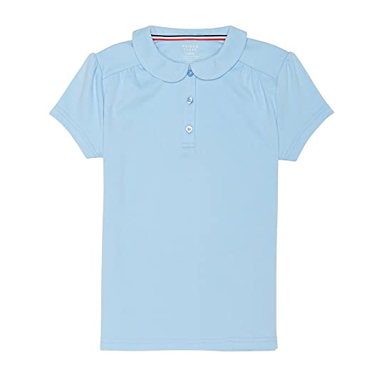 d8171c40ab7 Amazon.com  French Toast Girls  Short Sleeve Peter Pan Collar Polo  Clothing