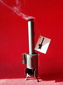 Estufa vintage quemador de incienso (altura 27 cm). Ambientador decorativo.: Amazon.es: Hogar