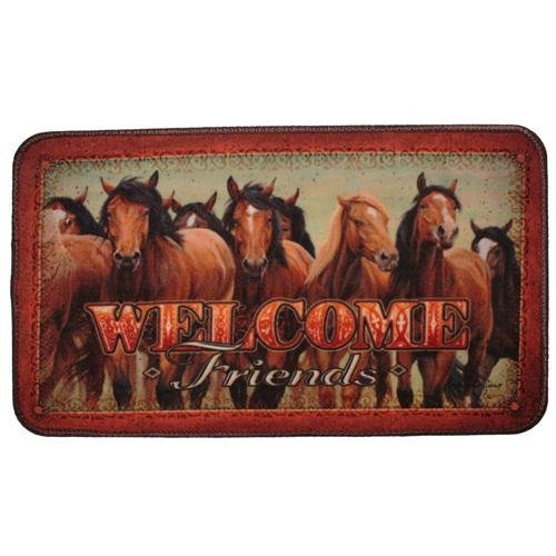 River's Edge Products Horses Door Mat Horse Door Mat