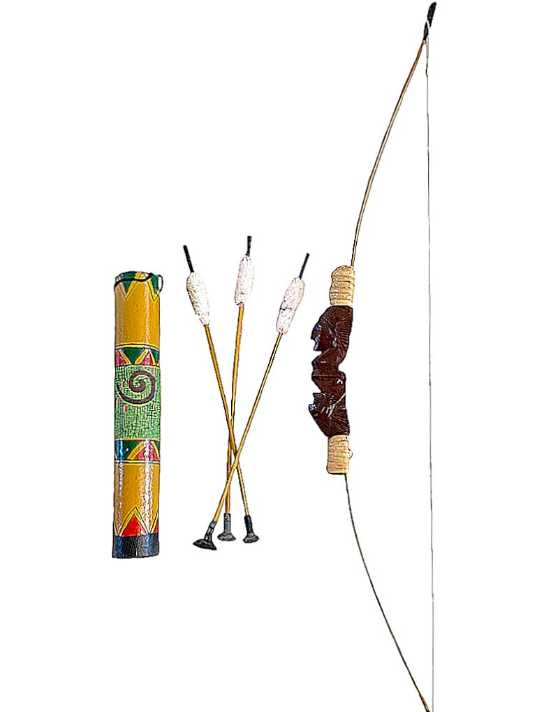 OMA Bow and Arrow Set Native American Indian Southwest Decor, Archery Brand