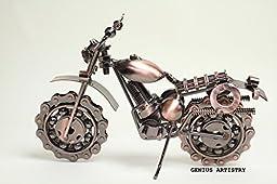 Dirt Devil Die Cast Metal Motorcycle Collectible Art-Handmade 7.5\