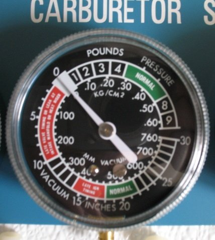 With vacuum gauge tuning Tuning for