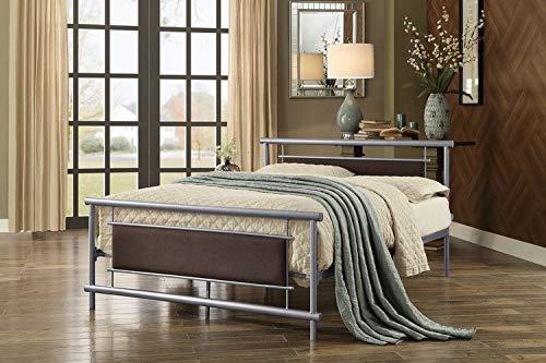 Homelegance Gavino Metal Platform Bed, Full, Silver