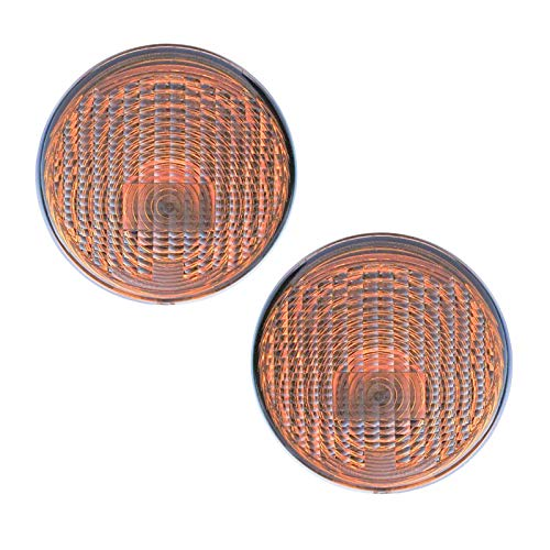 - Parking Light Turn Signal Amber Lens Front LH RH Pair Set for 07-13 Wrangler