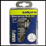 Sakura Emergency Bulb Kit - Fits Most Vehicles - 7 Bulbs 3 Fuses