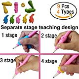 Pencil Grips,Writing Correction Device TANBT Pencil Grips for Kids Handwriting Writing Training Grip Claw Aid for Kindergarten or Children Left Handed Writing Posture Corrects Positioning Cons