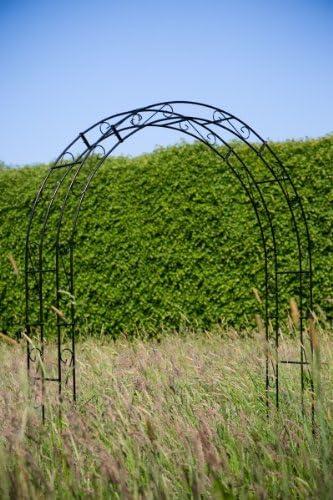 Kuheiga - Pérgola (hierro macizo, 12 mm) Ancho: 120 cm. Metal. Color negro.: Amazon.es: Jardín