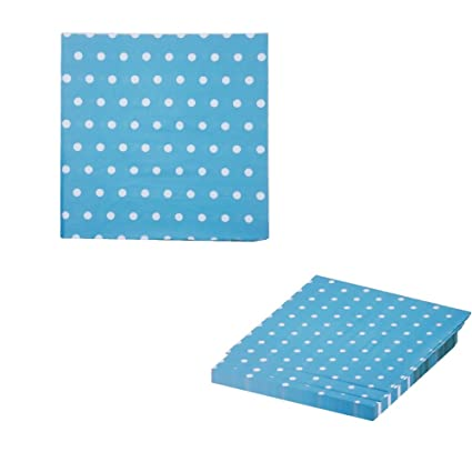 Birthdays Reunions And Much More Black and White Polka Dot Party Napkins 6.5 X 6.5 Premium Luncheon Napkins By Premium Disposables. Ideal For Parties 40 Count Weddings