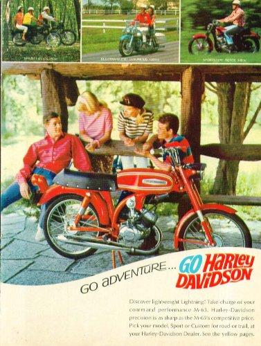 Go Adventure Go Harley-Davidson M-65 Motorcycle ad 1967