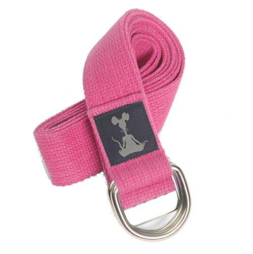 Yoga Strap: 100% Cotton, Chromed Rings, 1.5