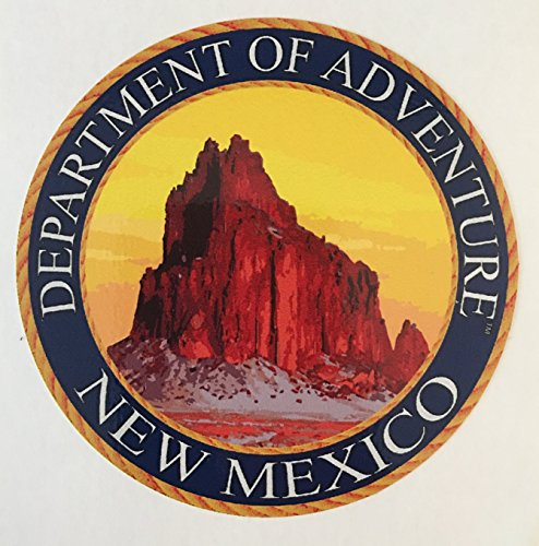 (New Mexico Sticker - The NM Department of Adventure State Seal. Designed to Look Like a Patch, This Vinyl Sticker is 3.5