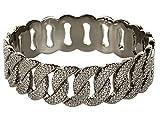 Marc Jacobs MBMJ Hematite Lizard Embossed Katie Bangle Bracelet NWT
