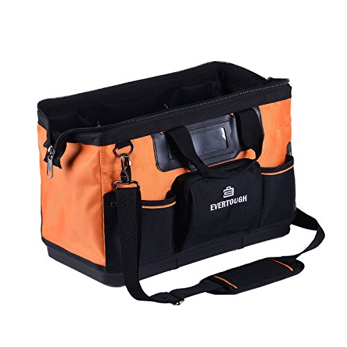 16 Inch 16 Pockets Wide Mouth Single-Shoulder Tool Bag Water Proof Ultra-Rigid Base Tool Storage and Organizer Bag by Sonyabecca
