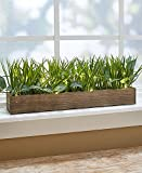 The Lakeside Collection 18'' Lighted Faux Grass Planter