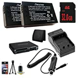 Two Canon EOS M 18 MP CMOS Mirrorless Digital SLR Camera LP-E12 Lithium Ion Replacement Battery + External Rapid Charger + 32GB SDHC Class 10 Memory Card + Memory Card Wallet + Deluxe Starter Kit Bundle DavisMAX EOS M Accessory Kit