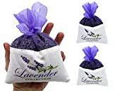 Fresh Harvest 2017 From The Provence 2 Extra Large French Lavender Sachet - 2 Packs - 50 Grams Each - Cozy Pouch Sachet Filled with Dried Lavender Flower Buds - Naturally Scent Fragrance for Closets