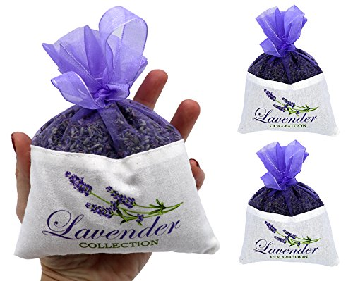 Fresh Harvest 2017 From The Provence 2 Extra Large French Lavender Sachet - 2 Packs - 50 Grams Each - Cozy Pouch Sachet Filled with Dried Lavender Flower Buds - (Lavender Harvest Provence)