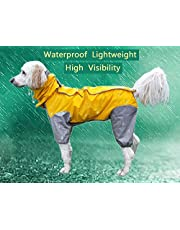 Maskota Dog Raincoats Waterproof Lightweight & High Visibility Full Range Sizes for Large Medium Small All Breeds Poncho Hoodies