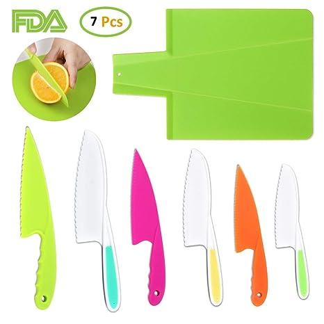 Cocina Para Niños Chef Cuchillo 6 Cuchillos De Fruta Para ...