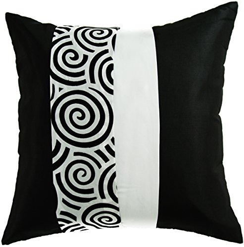 "Avarada Striped Spiral Throw Pillow Cover Zippered 16"" x 16"""