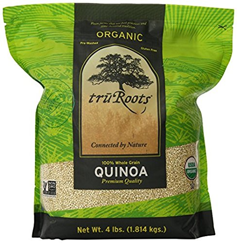 - truRoots Organic Quinoa 100% Whole Grain Premium Quality, 1Pack (3 lbs Each)