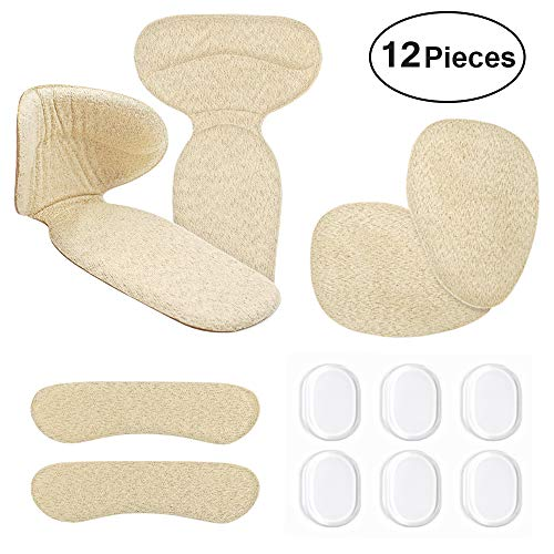Pads 12 pcs - Heel Grips Liners for Loose Shoes Forefoot Cushions Shoe Too Big Blisters Prevent ()