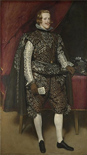The Perfect Effect Canvas Of Oil Painting 'Diego Velizquez Philip IV Of Spain In Brown And Silver ' ,size: 20 X 36 Inch / 51 X 91 Cm ,this High Resolution Art Decorative Prints On Canvas Is Fit For Home Office Decor And Home Gallery Art And Gifts - Nouveau Silver Letters