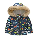 Franterd Winter Coat Little Boys Girls Floral