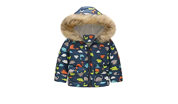 Amazon.com: Willsa Baby Girls Jacket, Toddler Winter Dinosaur Floral Print Hooded Windproof Coat Outwear: Clothing