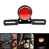 DLLL Black Motorcycle Round 14-LED Integrated Rear Tail Brake License Plate Light+Mount Bracket Fits Most Motorcycle, Street Bike, Cruiser, Chopper, Harley Honda/Kawasaki/BMW