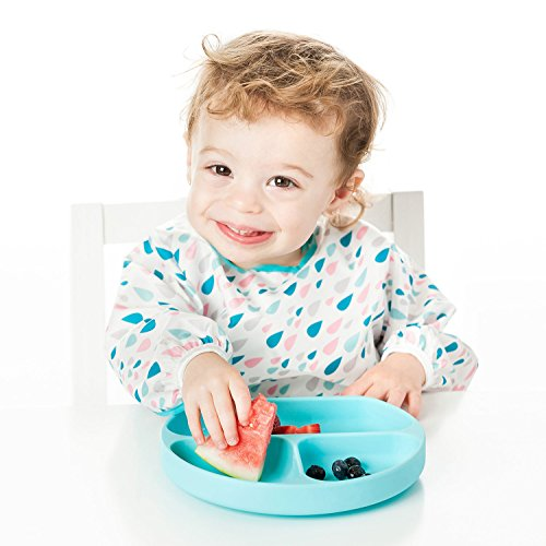 Bumkins Suction Silicone Baby & Kid Grip Dish, Blue by Bumkins (Image #7)