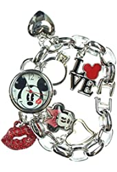 "Disney Women's Mickey Mouse ""Love"" Charm Bracelet Watch MK2214"
