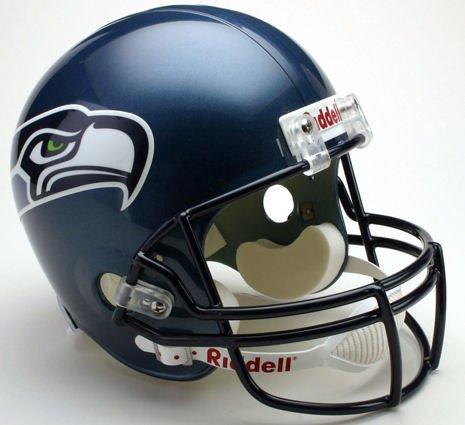 2004 Authentic Throwback Helmet - Riddell NFL Seattle Seahawks 2002-2011 Throwback Replica Vsr4 Full Size Football Helmet