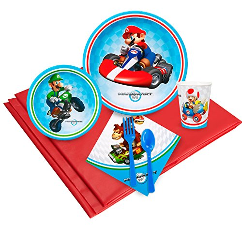 BirthdayExpress Mario Kart Wii Party Pack for -