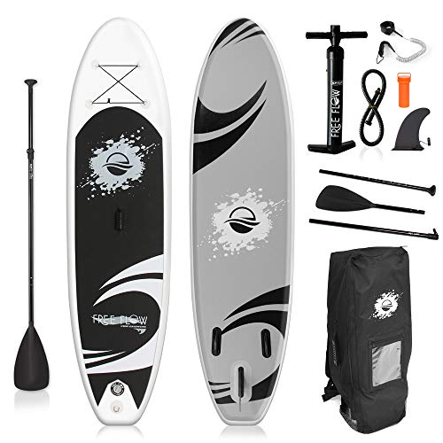 Inflatable Stand Up Paddle Board - 10' Ft. Standup Sup Paddle Board W/  Manual Air Pump, Safety Leash, Paddleboard Repair Kit, Storage / Carry Bag - Sup Paddle Board Inflatable - SereneLife SLSUPB06 (Air Bag Safety)