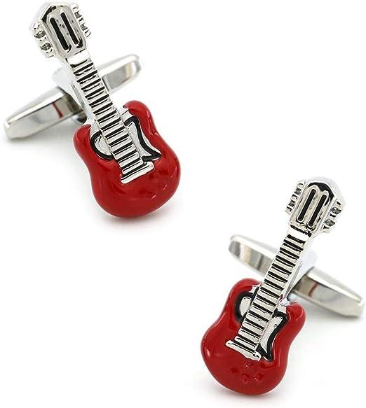 ZXJWZW Guitarra para Hombre Gemelos Material De Cobre Color Rojo ...