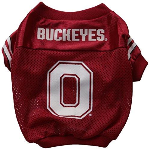 Sporty K9 Collegiate Ohio State Buckeyes Football Dog Jersey, - Ncaa Dog Jersey Football